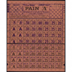 84-Monteux - Rationnement - Pain - Titre 1686 - 07/1944 - Cat. A - Etat : SUP