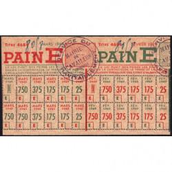Rationnement - Pain - Titre 4684 - 02/1949 et 03/1949 - Catégorie E - Cavaillon (84) - Etat : SUP