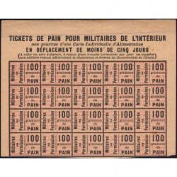 Rationnement militaire - Pain - 1918 - Etat : SUP