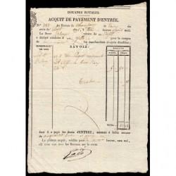 Duché de Savoie - Chambéry - 02/08/1825 - Droit de douane - 50 livres et 15 centimes - Etat : SUP