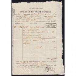 Duché de Savoie - Chambéry - 05/07/1825 - Droit de douane - 103 livres et 15 centimes - Etat : SUP