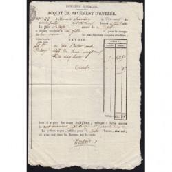 Duché de Savoie - Chambéry - 19/07/1825 - Droit de douane - 147 livres et 65 centimes - Etat : SUP