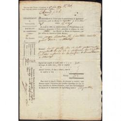 Vaucluse - Carpentras - 1er empire - 1809 - Créance hypothécaire - 312 francs - Etat : TTB