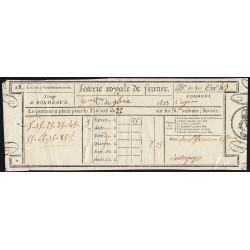 1823 - Bordeaux - Loterie Royale de France - 2 francs 25 centimes - Etat : SUP