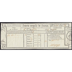 1823 - Paris - Loterie Royale de France - 50 centimes - Etat : SUP