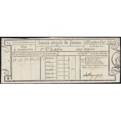 1823 - Bordeaux - Loterie Royale de France - 10 francs - Etat : SUP