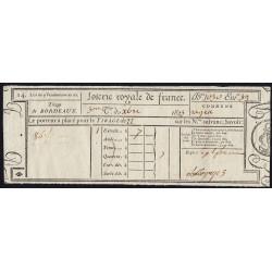 1823 - Bordeaux - Loterie Royale de France - 7 francs - Etat : SUP