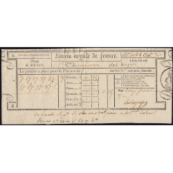 1824 - Paris - Loterie Royale de France - 2 francs 25 centimes - Etat : TTB
