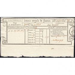 1823 - Bordeaux - Loterie Royale de France - 1 franc 25 centimes - Etat : SUP