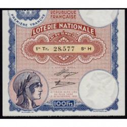 1933 - Loterie Nationale - 1e tranche - Etat : SUP