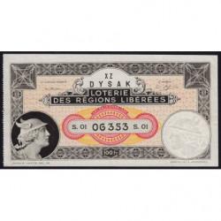 1934 - Loterie des Régions Libérées - S.01 - Etat : SUP