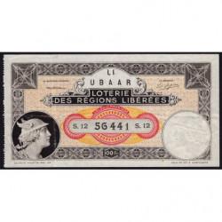1934 - Loterie des Régions Libérées - S.12 - Etat : TTB