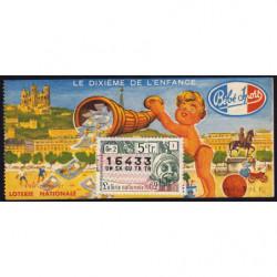 1962 - Loterie Nationale - 5e tranche - 1/10ème - Enfance