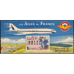 1962 - Loterie Nationale - 10e tranche - 1/10ème - Les Ailes de France