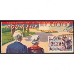 1962 - Loterie Nationale - 10e tranche - 1/10ème - Vieillesse abandonnée