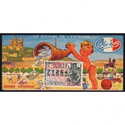 1962 - Loterie Nationale - 24e tranche - 1/10ème - Enfance