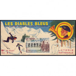 1962 - Loterie Nationale - 45e tranche - 1/10ème - Chasseurs Alpins