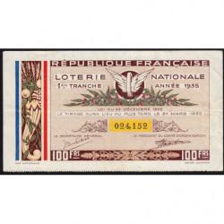 1935 - Loterie Nationale - 1e tranche - Etat : TTB