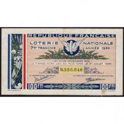 1935 - Loterie Nationale - 7e tranche - Etat : TTB