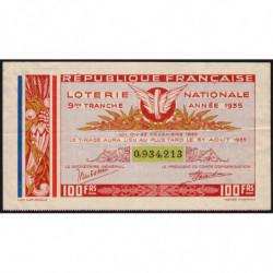 1935 - Loterie Nationale - 9e tranche - Etat : TTB