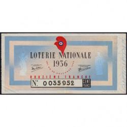 1936 - Loterie Nationale - 12e tranche - Etat : TTB