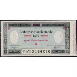 1937 - Loterie Nationale - 4e tranche - Etat : TTB