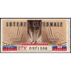 1937 - Loterie Nationale - 10e tranche - Etat : TTB