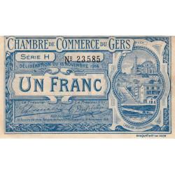 Auch (Gers) - Pirot 15-7 variété - 1 franc - Série H - 18/11/1914 - Etat : TTB
