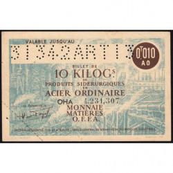 10 kg acier ordinaire - 31-03-1942 - Endossé dans le Tarn (81) - Etat : SUP+