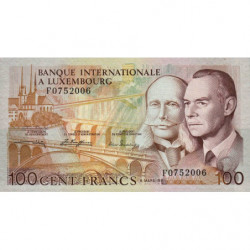 Luxembourg - Pick 14A - 100 francs - 08/03/1981 - Etat : SPL