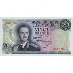 Luxembourg - Pick 54a - 20 francs - 07/03/1966 - Etat : NEUF
