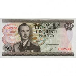 Luxembourg - Pick 55a - 50 francs - 25/08/1972 - Etat : pr.NEUF