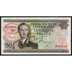 Luxembourg - Pick 55b - 50 francs - 25/08/1972 (1981) - Etat : TB+