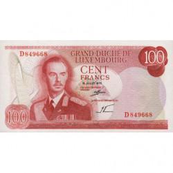 Luxembourg - Pick 56a - 100 francs - 15/07/1970 - Etat : NEUF