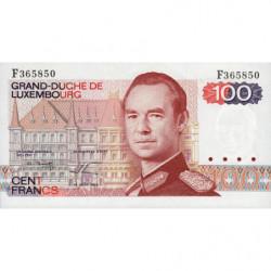 Luxembourg - Pick 57a_2 - 100 francs - 14/08/1980 - Etat : NEUF