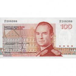 Luxembourg - Pick 58a - 100 francs - 1986 - Etat : NEUF