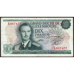 Luxembourg - Pick 53a - 10 francs - 20/03/1967 - Etat : TB+