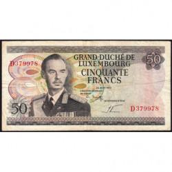 Luxembourg - Pick 55b - 50 francs - 25/08/1972 (1981) - Etat : TB