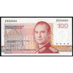 Luxembourg - Pick 58a - 100 francs - 1986 - Etat : TTB-