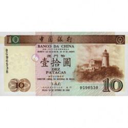 Chine - Macau - Pick 90 - 10 patacas - 16/10/1995 - Etat : NEUF