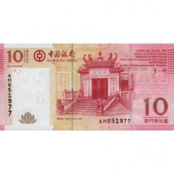 Chine - Macau - Pick 108a - 10 patacas - 08/08/2008 - Etat : NEUF