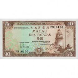 Chine - Macau - Pick 59e_2 - 10 patacas - 12/05/1984 - Etat : NEUF