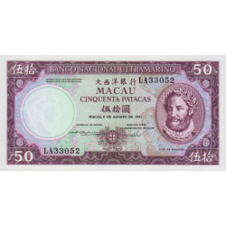 Chine - Macau - Pick 60b_5 - 50 patacas - 08/08/1981 - Etat : NEUF