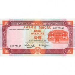 Chine - Macau - Pick 77 - 10 patacas - 08/06/2003 - Etat : NEUF