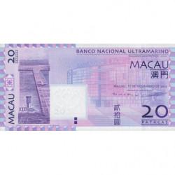 Chine - Macau - Pick 81c - 20 patacas - 11/11/2013 - Etat : NEUF