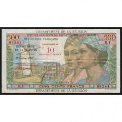 La Réunion - Pick 54b - 10 nouveaux francs sur 500 francs - 1971 - Etat : TTB-