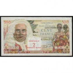St-Pierre et Miquelon - Pick 32 - 2 nouveaux francs sur 100 francs - 1963 - Etat : TTB+