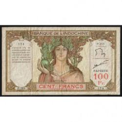 Tahiti - Papeete - Pick 14d - 100 francs - 1961 - Etat : TB-