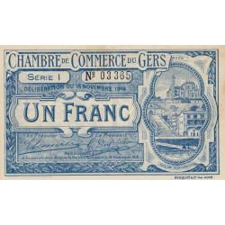 Auch (Gers) - Pirot 15-7 - Série I - 1 franc - 1914 - Etat : SUP