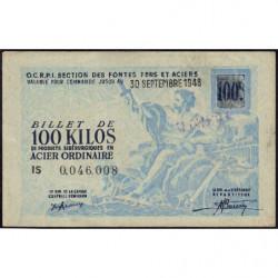 100 kg acier ordinaire - 30-09-1948 - Endossé - Etat : SUP+